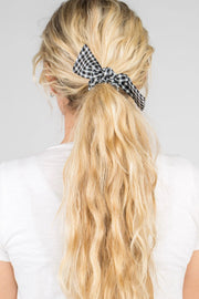 Peyton Gingham Hair Tie Variable Called to Surf ONE SIZE BLACK