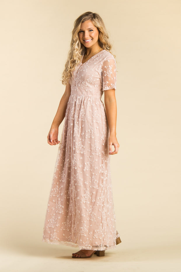 Adeline Lace Maxi Dress - B&R WOMEN'S DRESS brass & roe