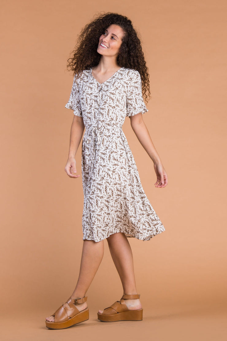 Laila Buttons & Print Dress WOMEN'S DRESS Called to Surf