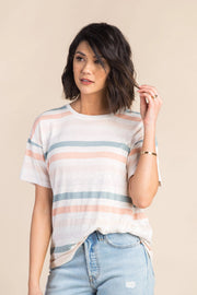 Wheaton Tee WOMEN'S T-SHIRT Thread & Supply L Stripe
