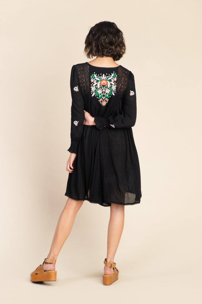 Olivia Embroidered Dress WOMEN'S DRESS brass & roe