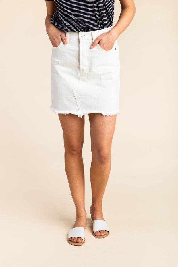 Levis - Deconstructed Button Fly Skirt WOMEN'S SKIRTS Levi's 24 White