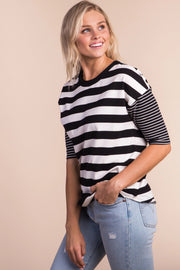 Union Square Stripe Top Variable Called to Surf S White