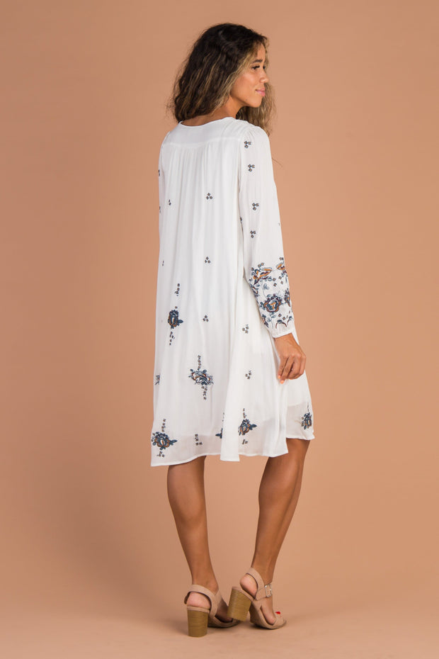 Southampton Embroidery Dress - White - B&R Variable Called to Surf