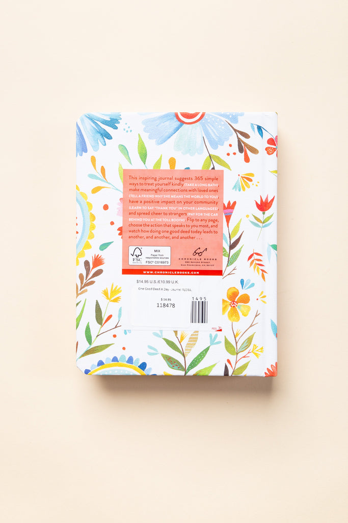 One Good Deed A Day - Journal FLORAL PRINT JOURNALS Called to Surf