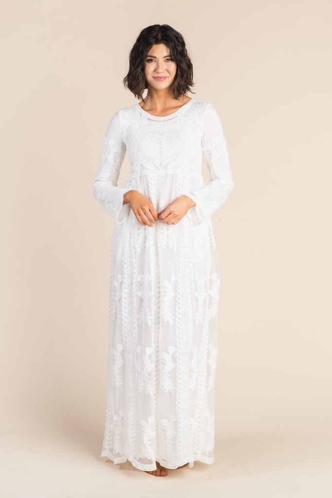 Cavendish Lace Maxi - White Lace Variable Called to Surf