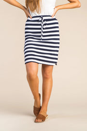 Everyday Thick Striped Knit Skirt WOMEN'S SKIRTS Called to Surf L Black