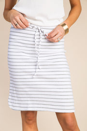 Everyday Thin Striped Knit Skirt WOMEN'S SKIRTS Called to Surf