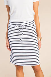 Everyday Thin Striped Knit Skirt WOMEN'S SKIRTS Called to Surf L Black