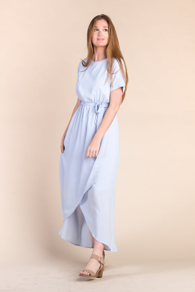 Lucy Wrap Dress WOMEN'S DRESS Polagram L Light Blue