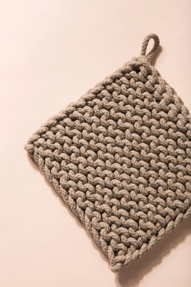 Baja Thick Cotton Pot Holder Variable Called to Surf One Size Beige