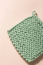 Baja Thick Cotton Pot Holder Variable Called to Surf One Size Mint