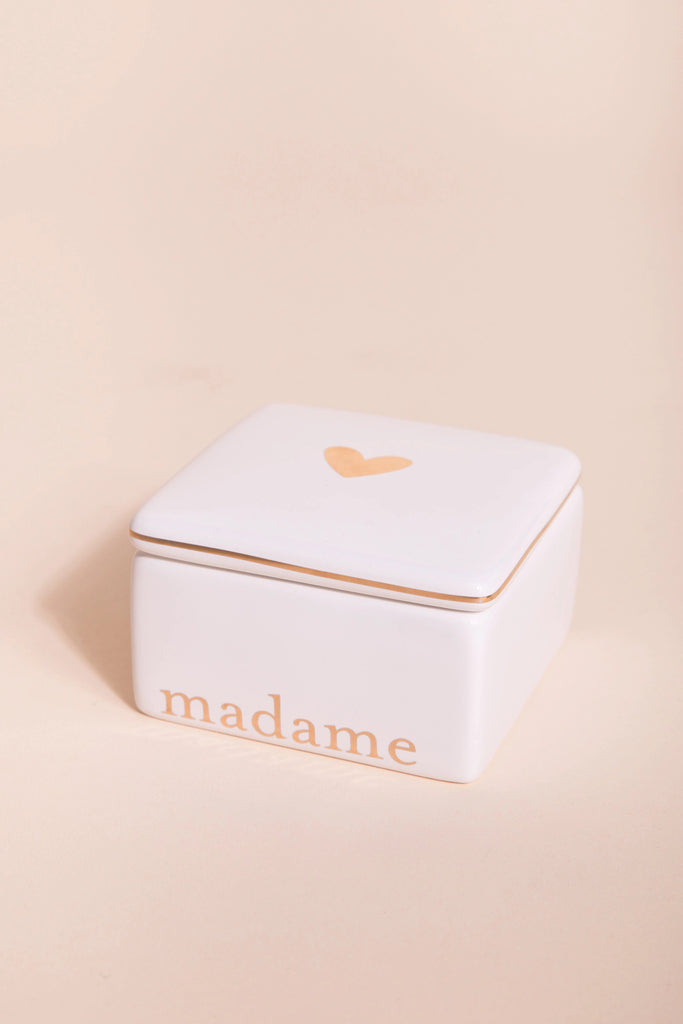 """madame"" & ""monsiour"" Ceramic boxes HOME GOODS Called to Surf One Size White"