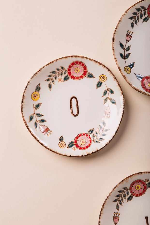 Hand Painted Monogram Plate Variable Called to Surf One Size O