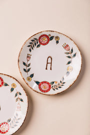 Hand Painted Monogram Plate Variable Called to Surf One Size A