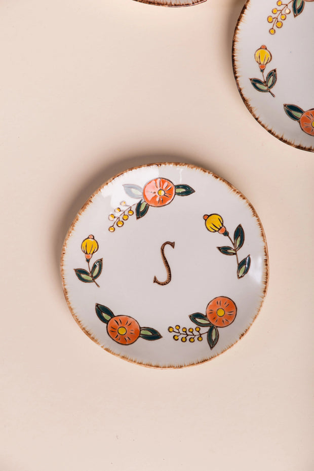 Hand Painted Monogram Plate Variable Called to Surf One Size S