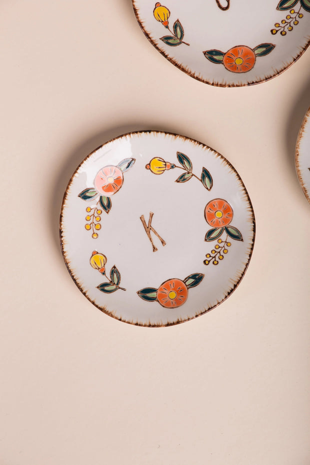 Hand Painted Monogram Plate Variable Called to Surf One Size K