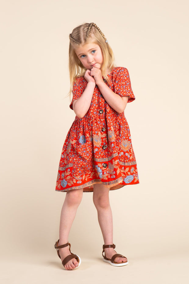 Ellie Mini Dress GIRL'S DRESS brass & roe
