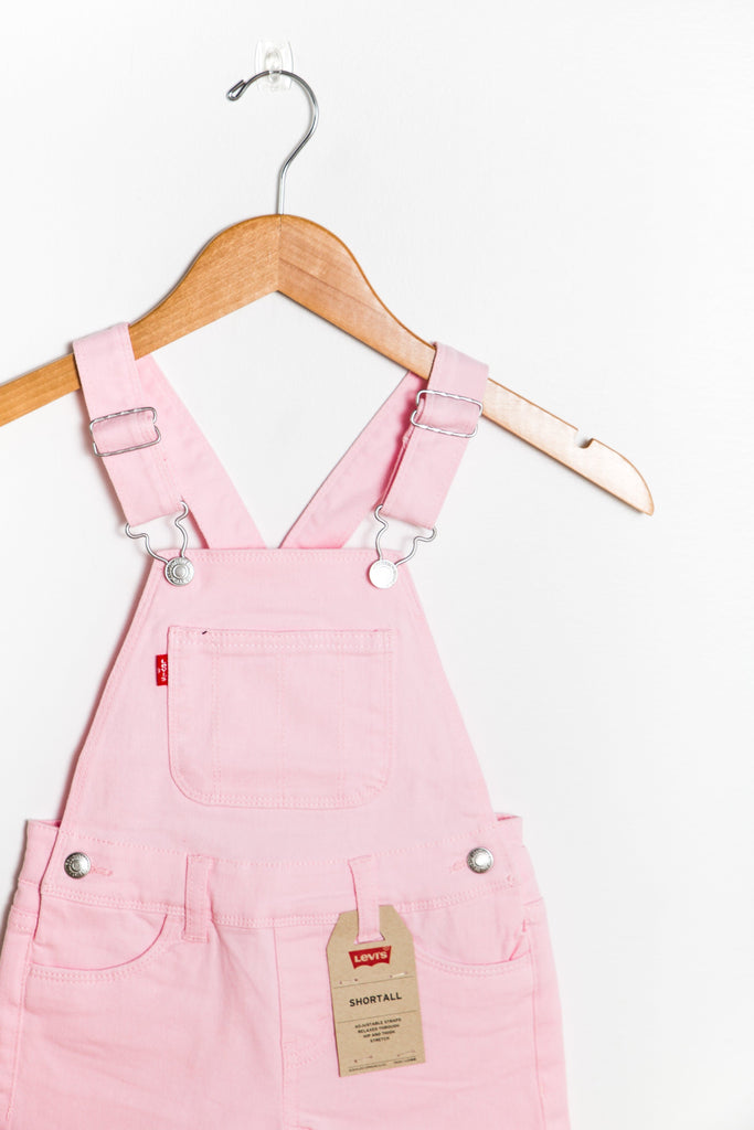 Levis - Little Girl's Shortall KID'S SHORTS Levi's 4 Pink