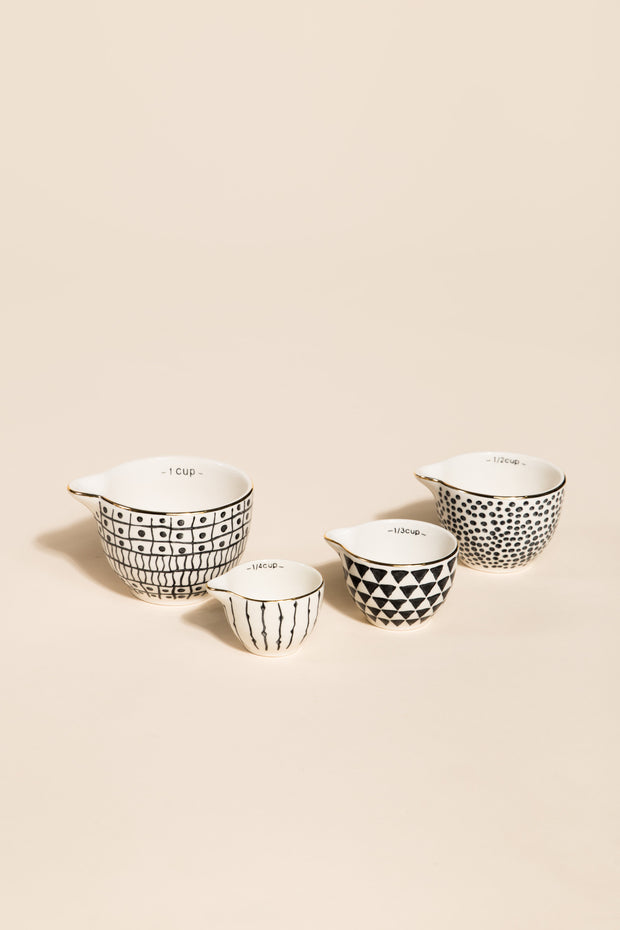 Black & White Print Measuring Cups HOME GOODS Called to Surf