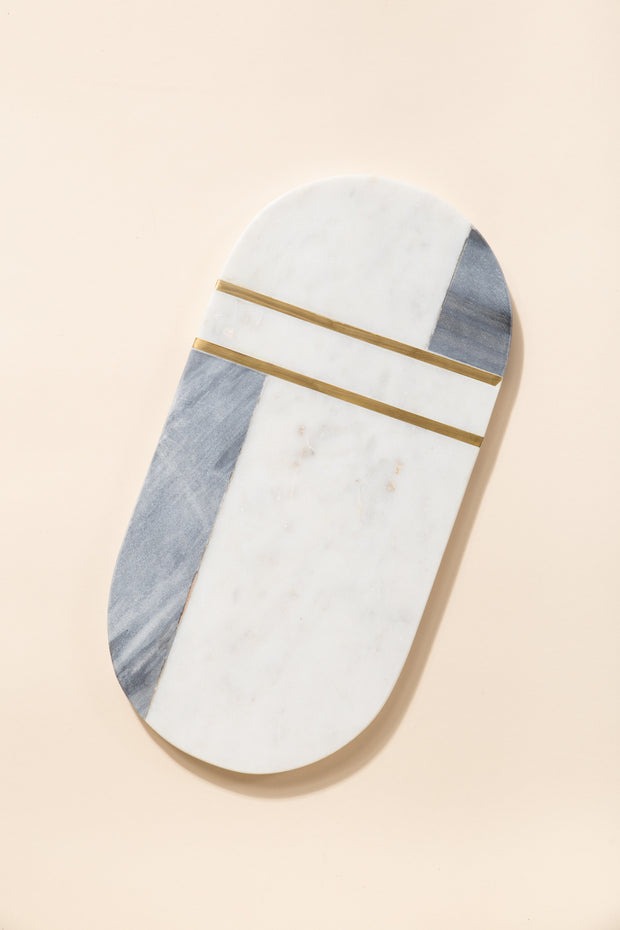 Grey & White Marble Serving Board HOME GOODS Called to Surf