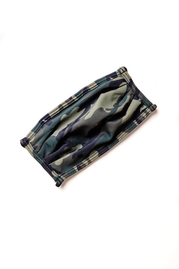 Double Lined Swim Fabric Face Mask Face Mask Called to Surf OS Camo