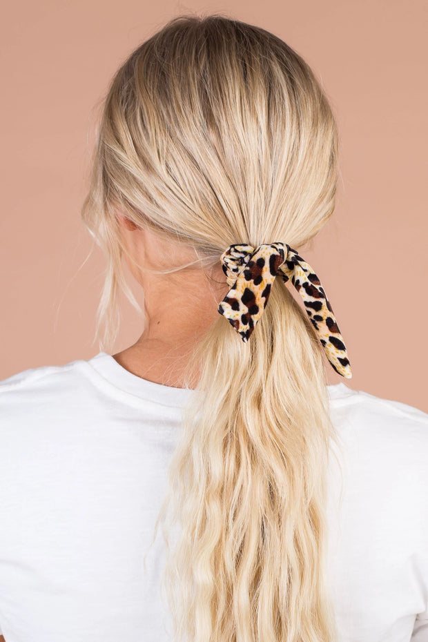 Leopard Print Hair Scrunchi Variable Called to Surf