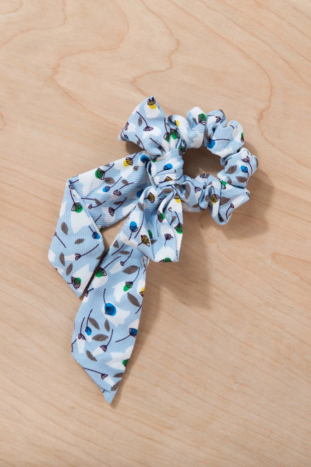 Up and Away Hair Scrunchie Variable Called to Surf One Size Light Blue
