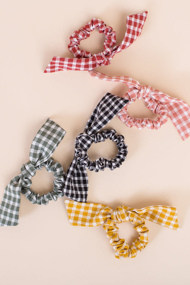Peyton Gingham Hair Tie Variable Called to Surf