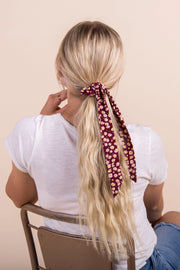 Up and Away Hair Scrunchie Variable Called to Surf One Size Burgundy