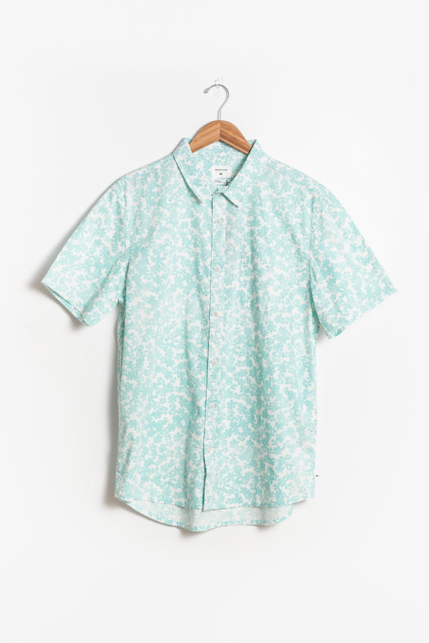 Quicksilver - Dots Flowers Men's Shirt MEN'S WOVENS Called to Surf L Cream