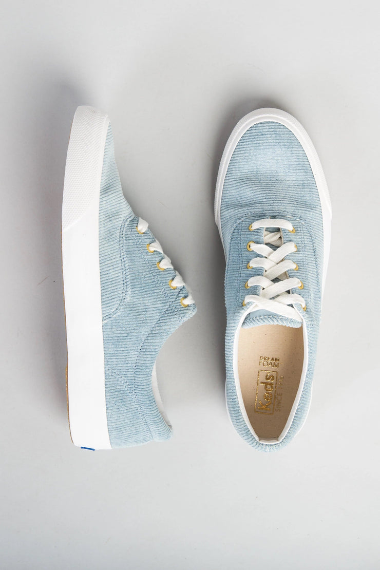 Keds - Corduroy Sneaker WOMEN'S SHOES Called to Surf 10 Light Blue