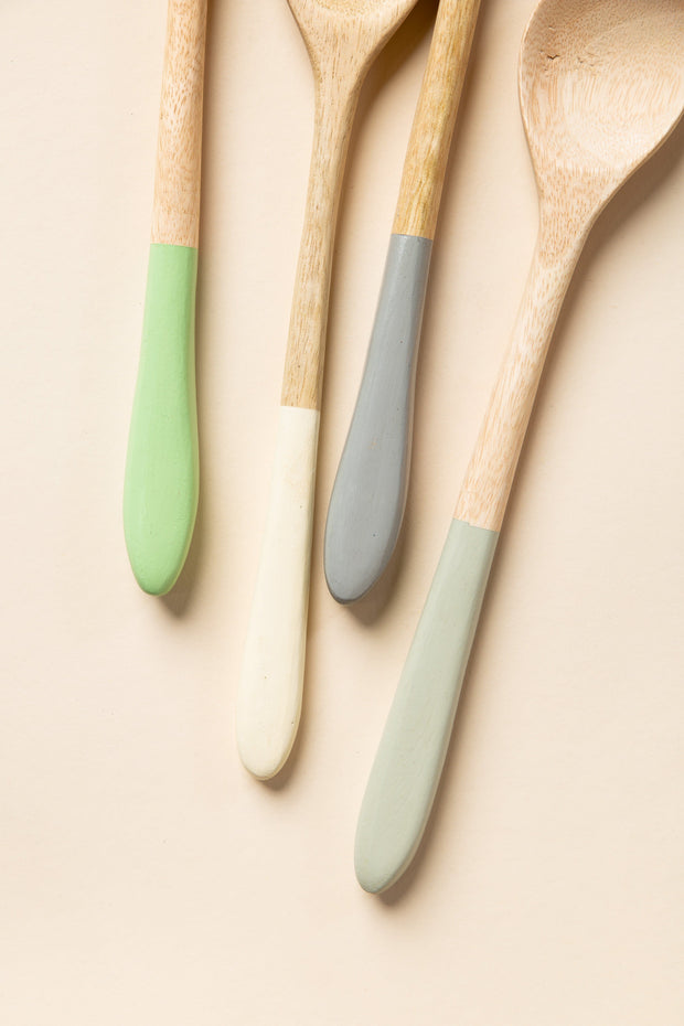 Wood Spoon with Dipped Handle HOME GOODS Creative Co-Op