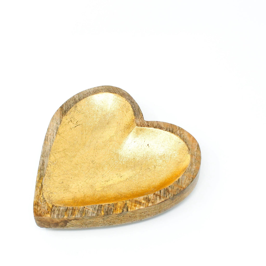 Heart Shaped Wood Bowl HOME GOODS Called to Surf