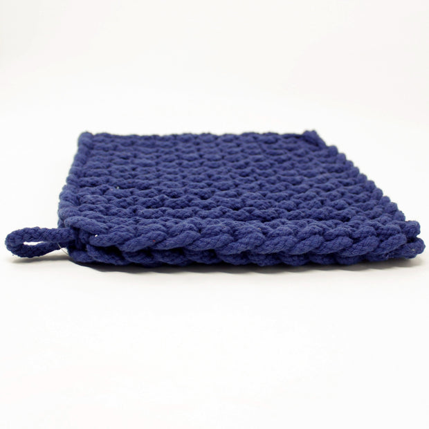 Baja Thick Cotton Pot Holder Variable Called to Surf One Size Navy Blue