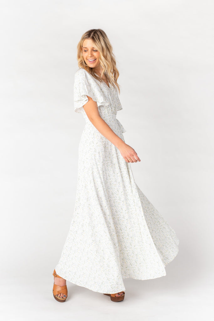 Spring Fling Wrap Maxi Dress WOMEN'S DRESS Arbor Ivory L