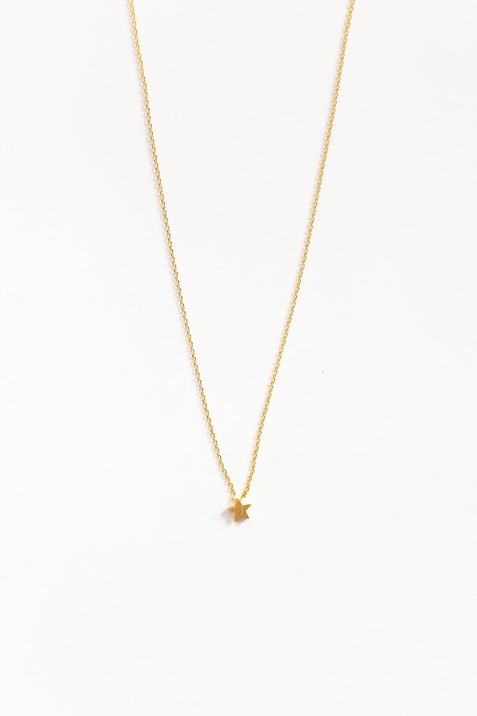 Dainty Star Necklace WOMEN'S NECKLACE Cove Gold 16""