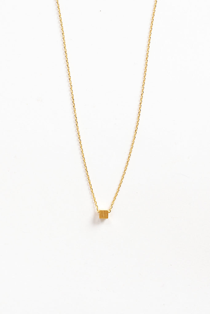 Floating Block Necklace WOMEN'S NECKLACE Cove Gold 16""