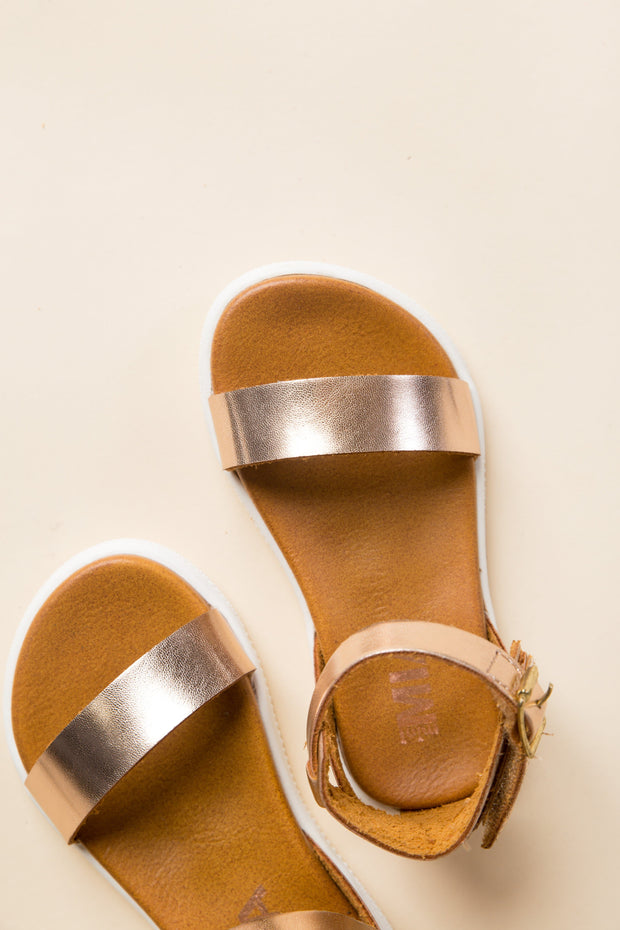 Velcro Buckle Toddler Ellen GIRL'S SANDALS Mia 10 Rose Gold
