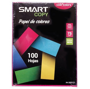 Papel de colores Neon 75g/m2 100h SMARTY