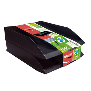 CHAROLA APILABLE MAPED EVERGREEN (NEGRO, 2 PZS.)