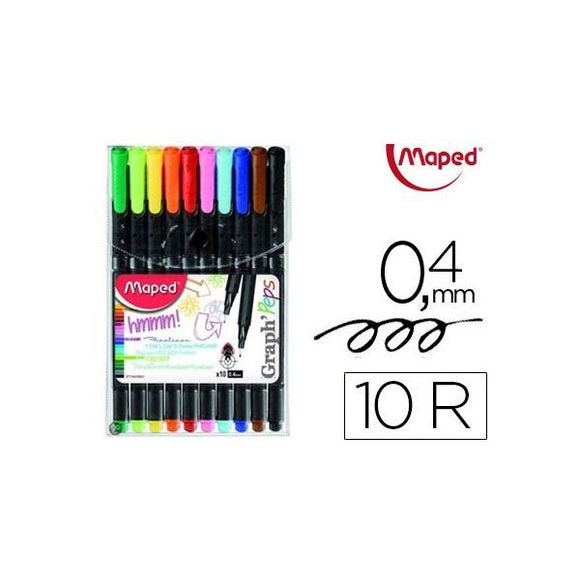 Rotuladores con 10 colores MAPED