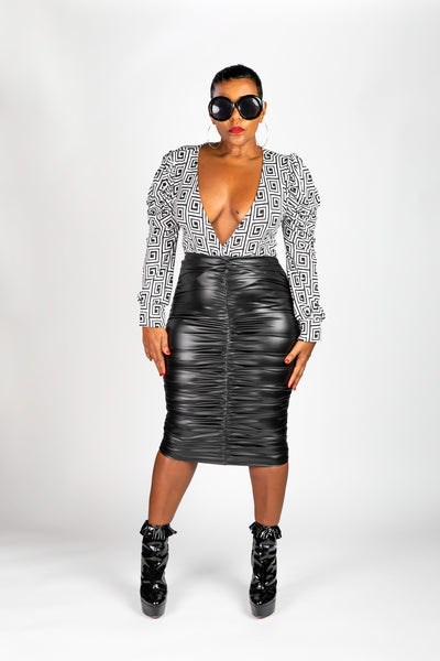 Conradt Faux Leather Skirt