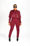 Cranberry Latte Jumpsuit