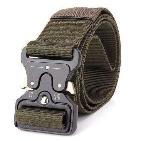 The Geess Army Green / 125cm Mens Tactical Belt Military Nylon Belt Outdoor