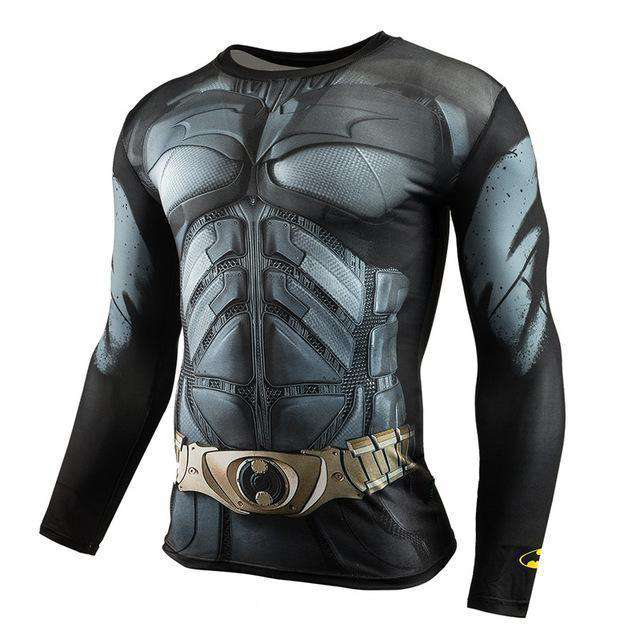 The Geess BatBlack / Aisan S Marvel Superhero Long Sleeves Shirts