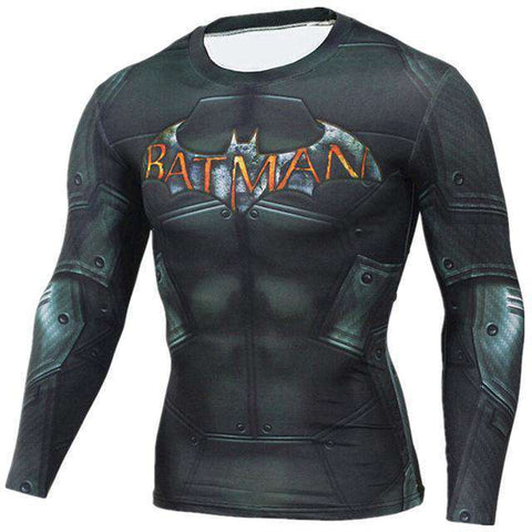 The Geess BatText / Aisan S Marvel Superhero Long Sleeves Shirts