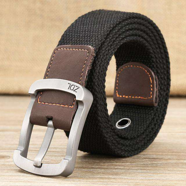 The Geess Black 1 / 110cm Men and Woman`s military belt outdoor tactical belt high quality canvas belts for jeans