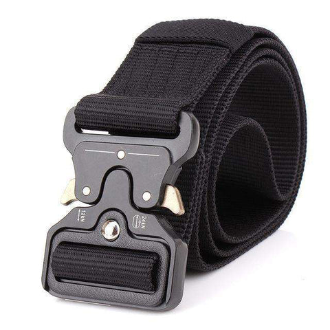 The Geess Black / 125cm Mens Tactical Belt Military Nylon Belt Outdoor