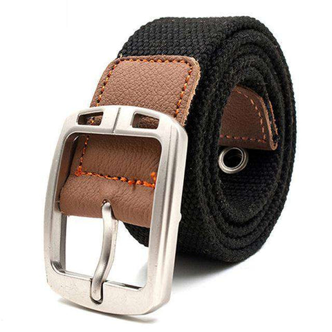 The Geess Black 2 / 110cm Men and Woman`s military belt outdoor tactical belt high quality canvas belts for jeans
